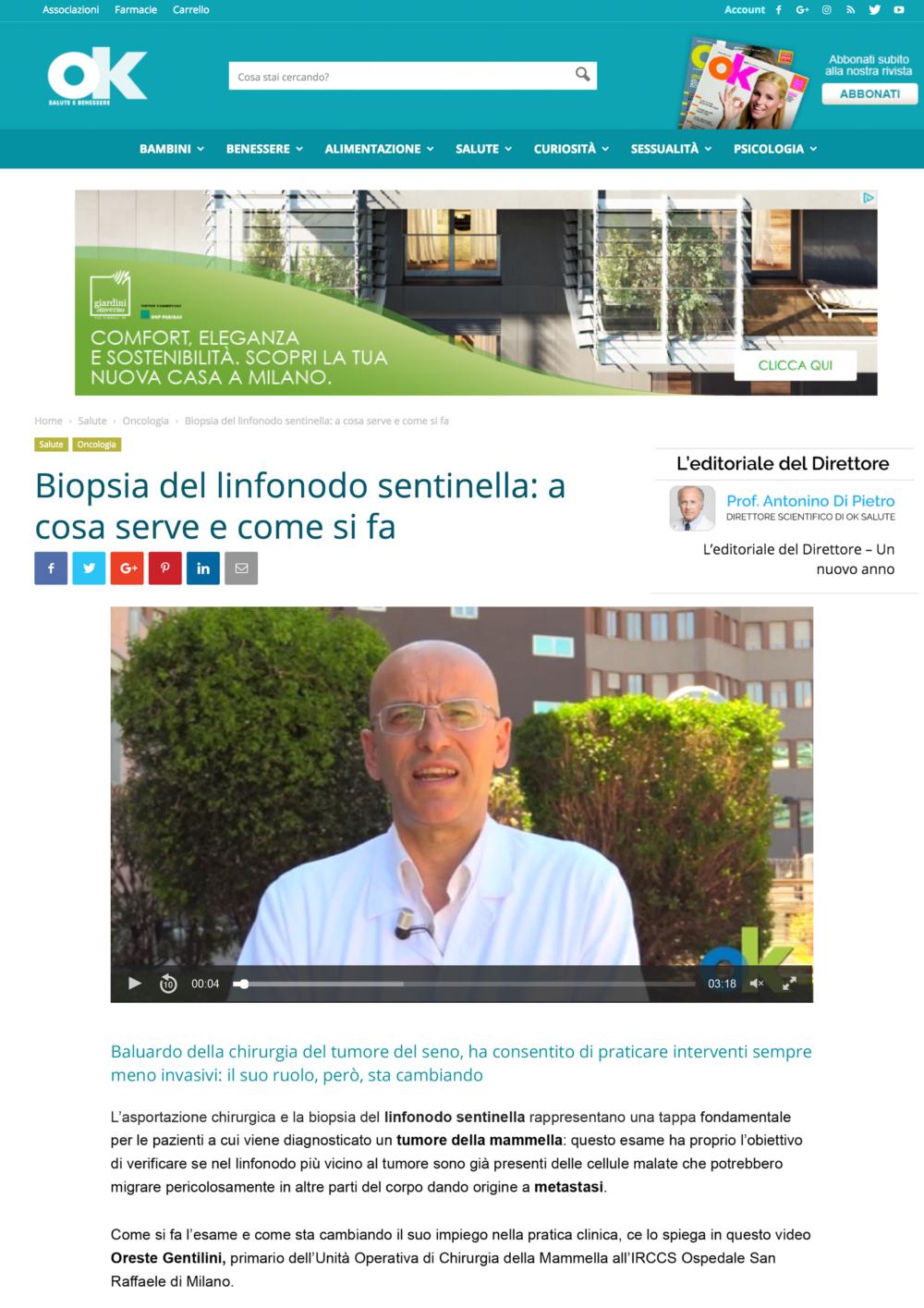 Biopsia Del Linfonodo Sentinella_ A Cosa Serve E Come Si Fa _ Ok Salute E Benessere